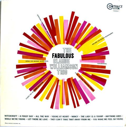 """The Fabulous Claude Williamson Trio Vinyl 12"""""""
