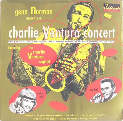 "Charlie Ventura Septet Vinyl 12"""