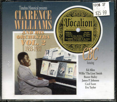Clarence Williams Orchestra CD