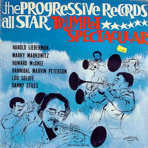 "The Progressive Records All Star Trumpet Spectacular Vinyl 12"""