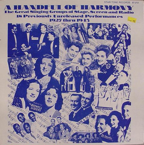 """Handful of Harmony Vinyl 12"""""""