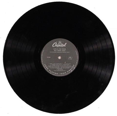"Nat King Cole Vinyl 12"""