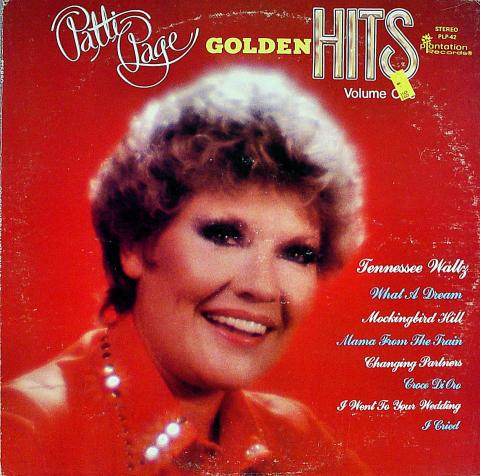 "Patti Page Vinyl 12"""