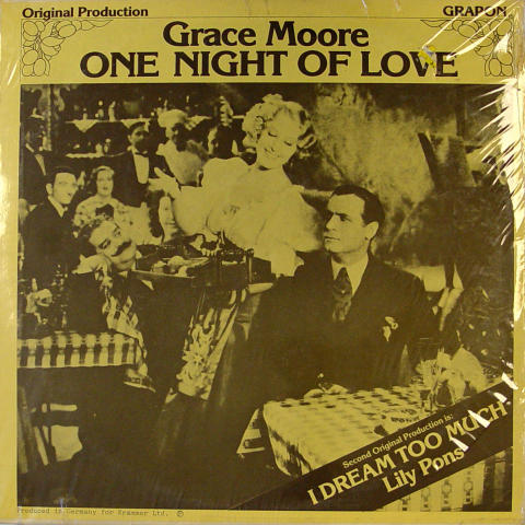 One Night Of Love / I Dream Too Much Vinyl 12""