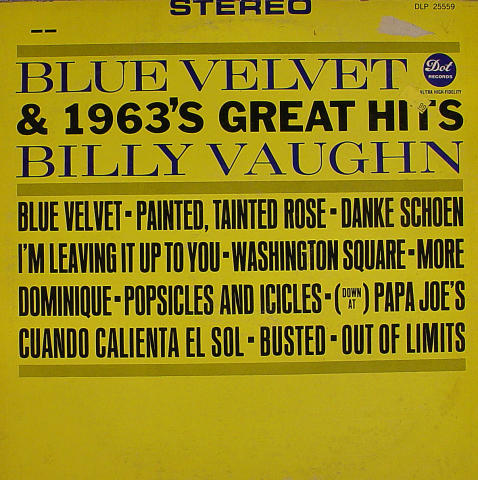 "Billy Vaughn Vinyl 12"""