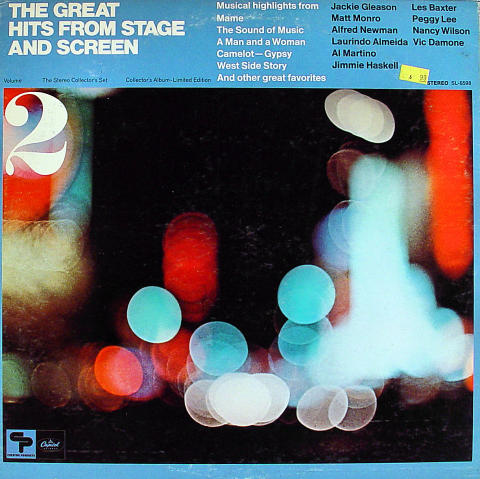 """The Great Hits From Stage And Screen Volume 2 Vinyl 12"""" (Used)"""