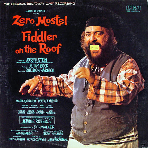 Fiddler On The Roof Vinyl 12""