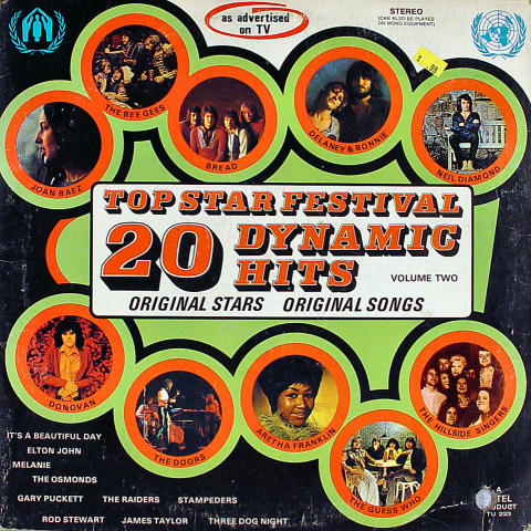 Top Star Festival 20 Dynamic Hits Volume Two Vinyl 12""