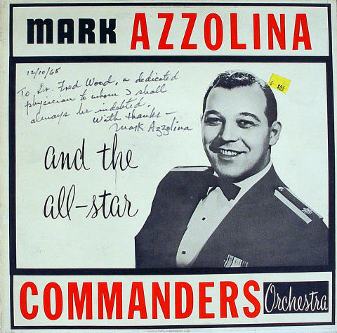 """Mark Azzolina And The All-Star Commanders Orchestra Vinyl 12"""""""