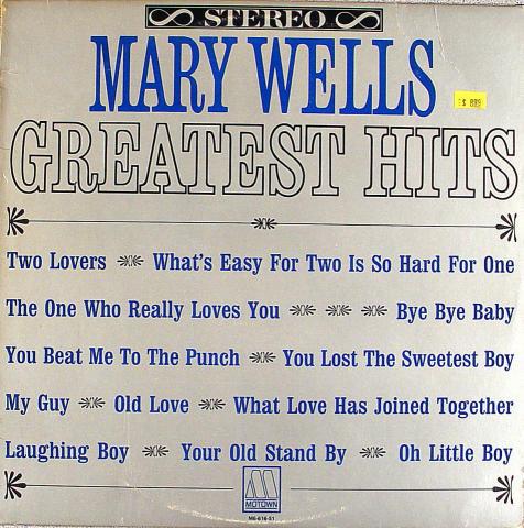 "Mary Wells Vinyl 12"""