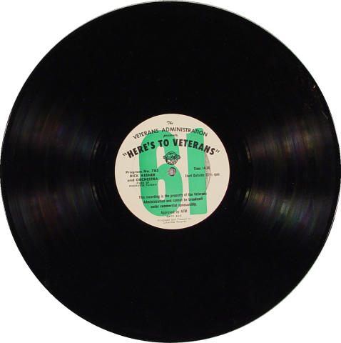 Here's To Veterans Program No. 783/784 Vinyl 12""
