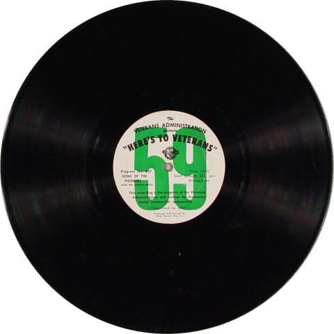 "Here's To Veterans Program No. 756/757 Vinyl 12"""