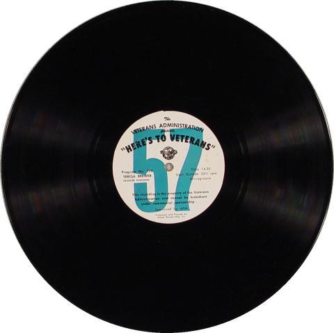 "Here's To Veterans Program No. 738/739 Vinyl 12"""