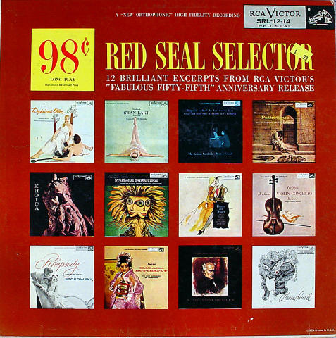 """The RCA Victor Red Seal Selector Vinyl 12"""""""