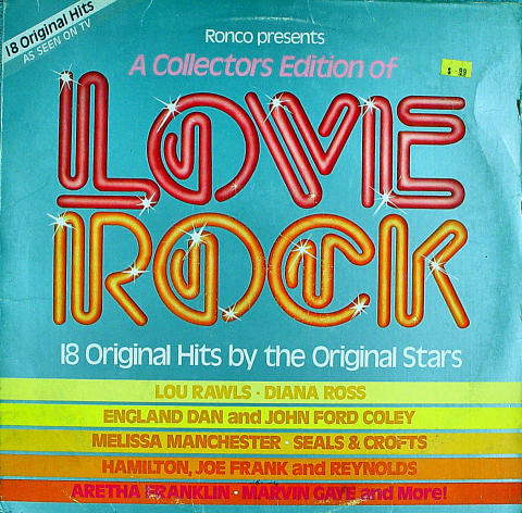 """A Collector's Edition Of Love Rock Vinyl 12"""" (Used)"""