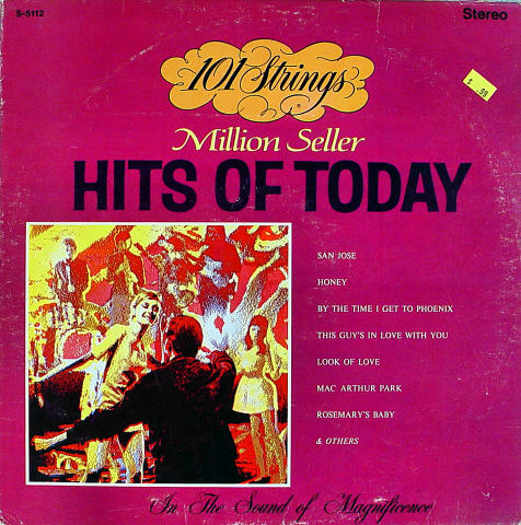 """101 Strings: Hits Of Today Vinyl 12"""" (Used)"""