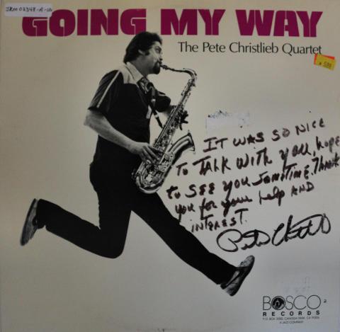 """The Pete Christlieb Quartet Vinyl 12"""""""