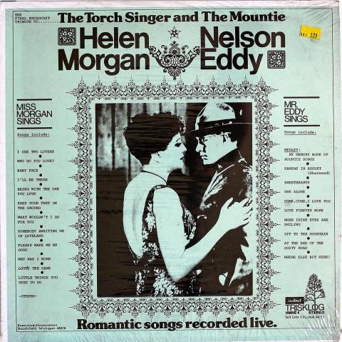 "Helen Morgan / Nelson Eddy Vinyl 12"""