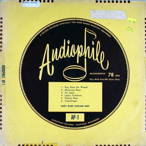 """Harry Blons' Dixieland Band Vinyl 12"""""""