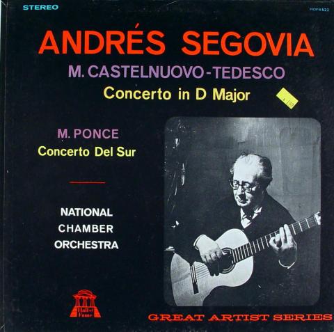 "Andres Segovia Vinyl 12"""