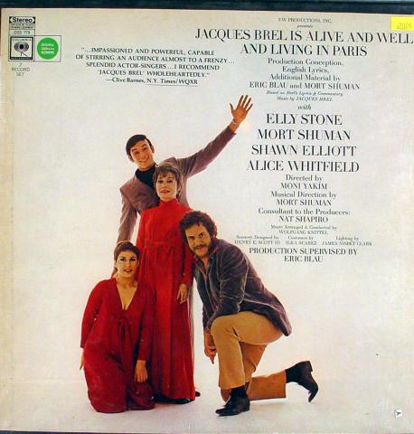 """Jacques Brel Vinyl 12"""""""