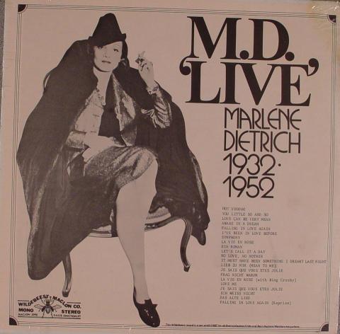 """Marlene Dietrich Vinyl 12"""""""
