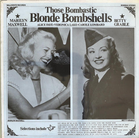 "Those Bombastic Blonde Bombshells Vinyl 12"""