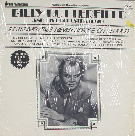 """Billy Butterfield And His Orchestra Vinyl 12"""""""