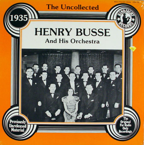"""Henry Busse And His Orchestra Vinyl 12"""""""