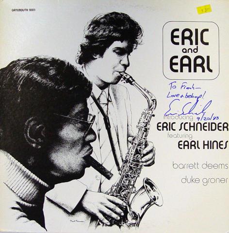 "Eric Schneider / Earl Hines Vinyl 12"""