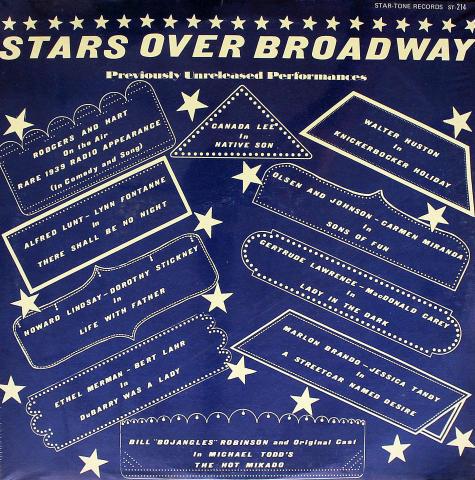 "Stars Over Broadway Vinyl 12"""