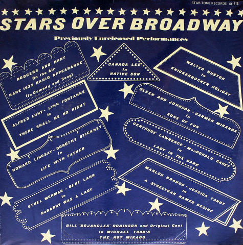 "Stars Over Broadway Vinyl 12"" (New)"