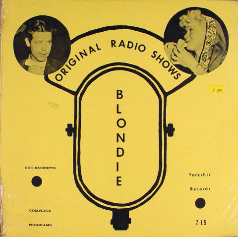 "Original Radio Shows / Blondie Vinyl 12"""