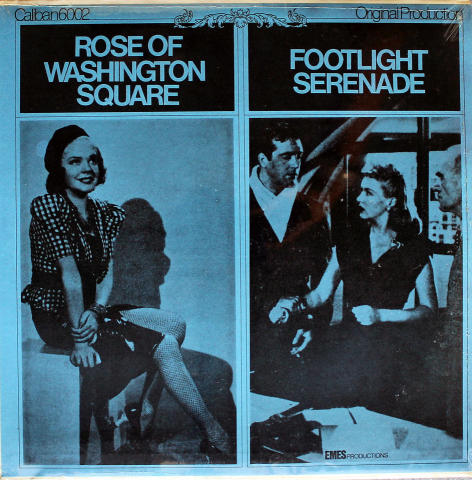 Rose Of Washington Square / Footlight Serenade Vinyl 12""