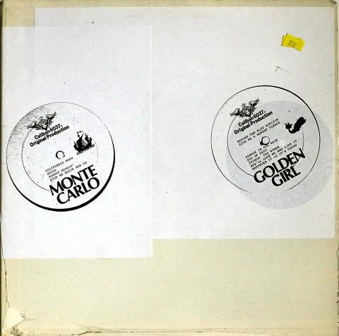 "Golden Girl / Monte Carlo Vinyl 12"""