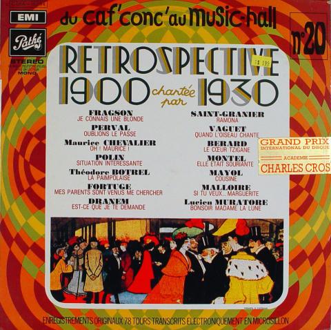"""Retrospective 1900 Chartee Par 1930 Vinyl 12"""""""