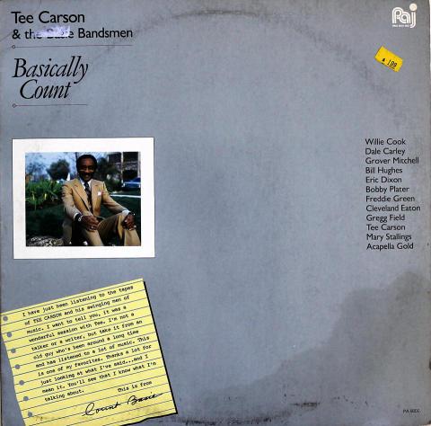 "Tee Carson & The Basie Bandsmen Vinyl 12"""