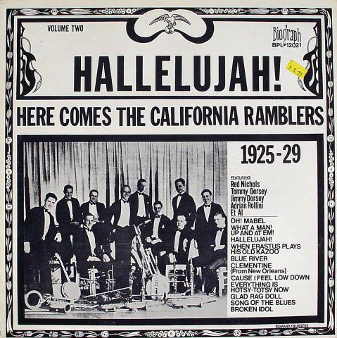 "Hallelujah! Here Comes The California Ramblers 1925-29 Vinyl 12"""