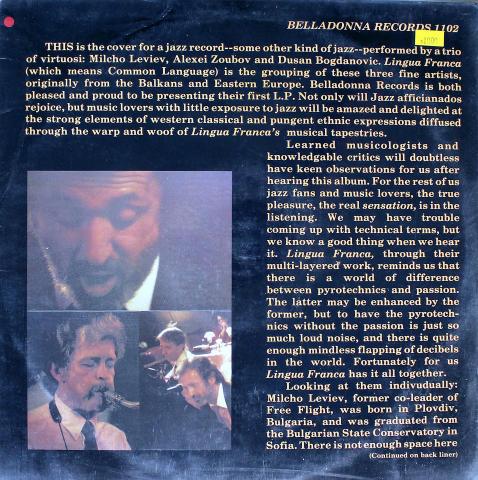 """Lingua Franca Vinyl 12"""""""