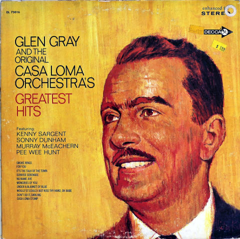 Glen Gray and the Original Casa Loma Orchestra Vinyl 12""