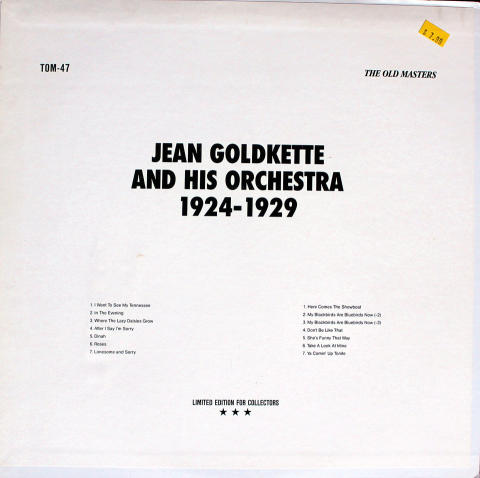 Jean Goldkette And His Orchestra Vinyl 12""