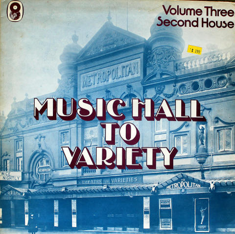 "Music Hall to Variety / Volume Three / First House Vinyl 12"" (Used)"