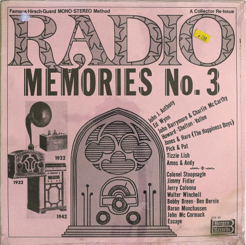 """Radio Memories No. 3 Vinyl 12"""""""