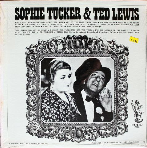 """Sophie Tucker & Ted Lewis Vinyl 12"""""""