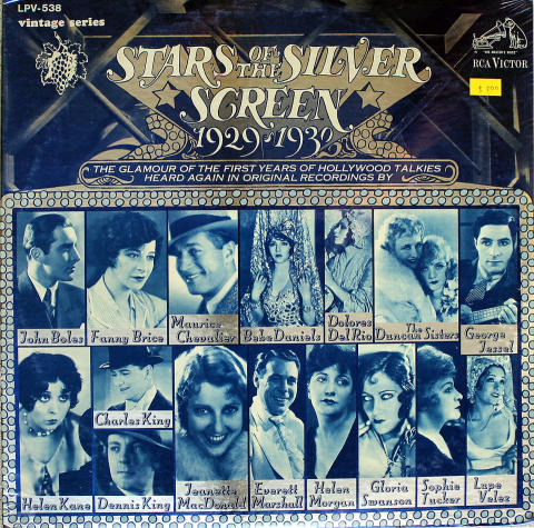 """Stars Of The Silver Screen 1929-1930 Vinyl 12"""" (New)"""