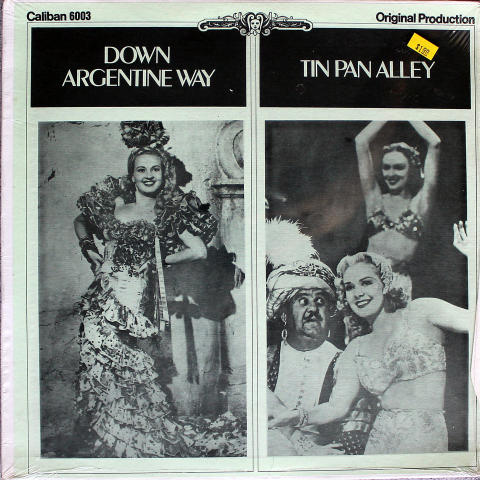 "Down Argentine Way / Tin Pan Alley Vinyl 12"" (New)"