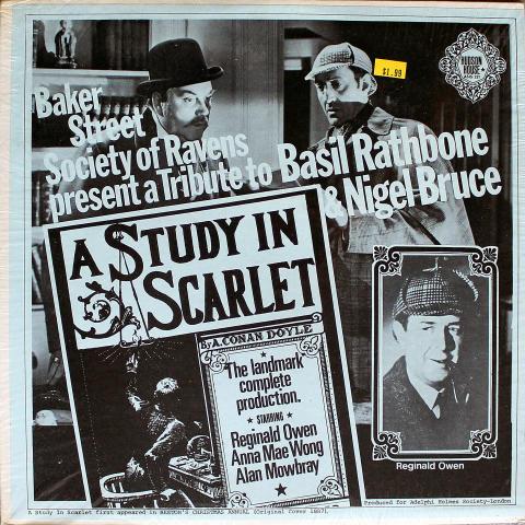 "A Study In Scarlet Vinyl 12"""