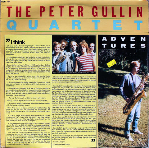 "The Peter Gullin Quartet Vinyl 12"""