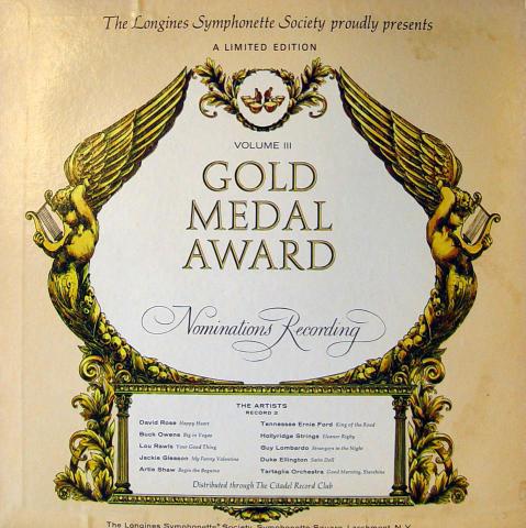 "Gold Medal Award Volume III Vinyl 12"""