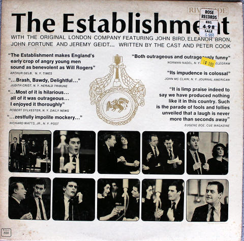 "The Establishment With The Original London Company Vinyl 12"""